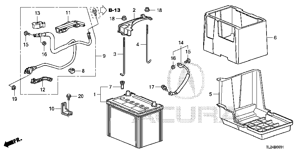 31512-TP1-A00 - PLATE, BATTERY SETTING