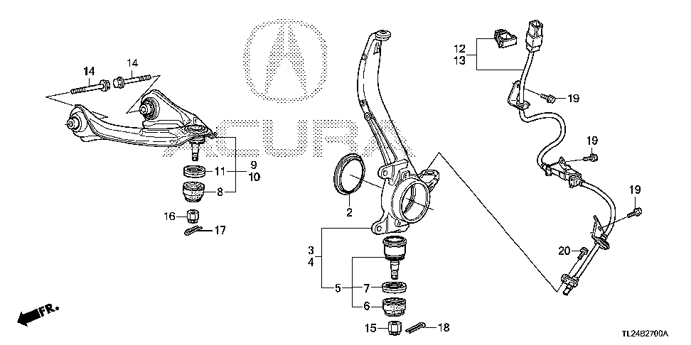 44348-TA0-A00 - RING, FR. KNUCKLE
