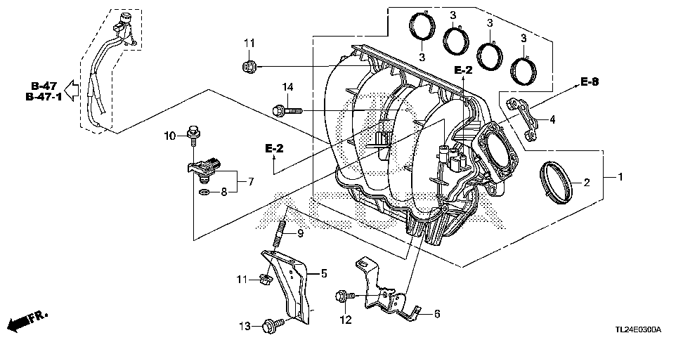 17107-R40-A01 - GASKET, THROTTLE BODY