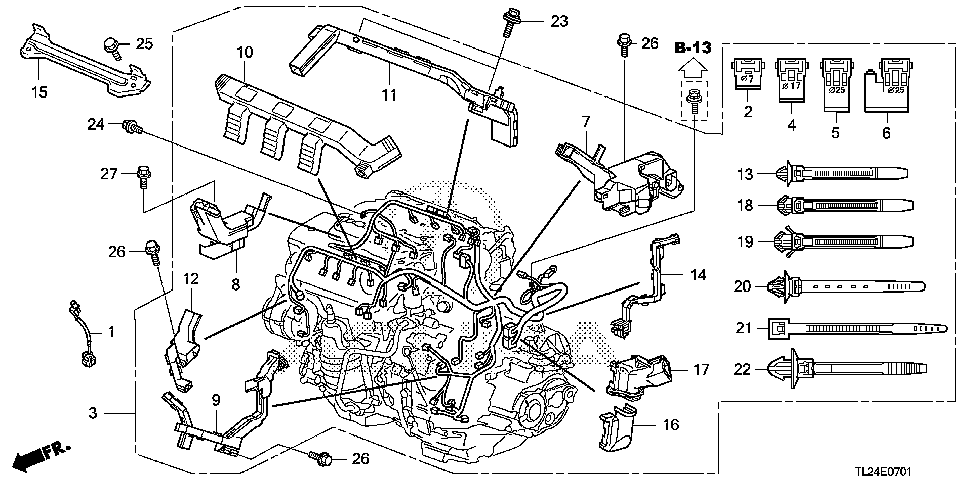 32110-RL8-A51 - WIRE HARNESS, ENGINE