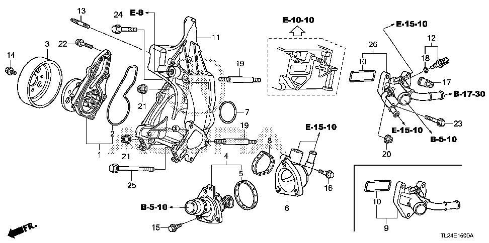 19301-R40-A02 - THERMOSTAT ASSY. (NIPPON THERMOSTAT)
