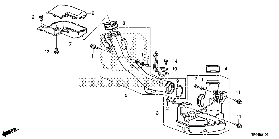 17256-5J0-A00 - COVER A, WATER SEPARATOR