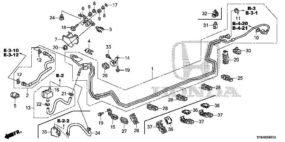 16922-R8A-A00 - RUBBER, MOUNTING