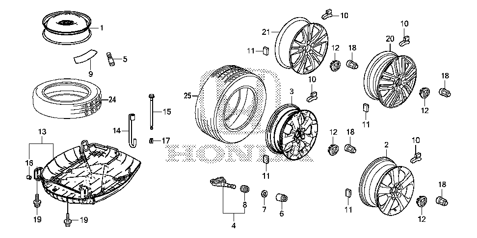 42755-TP6-A81 - WASHER, TPMS VALVE