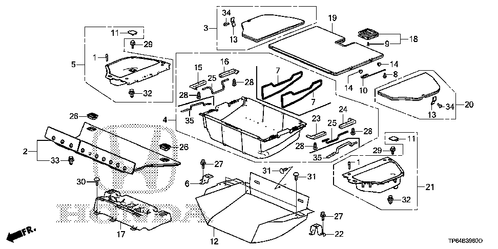 84533-TP6-A00 - LINING, TIRE PAN