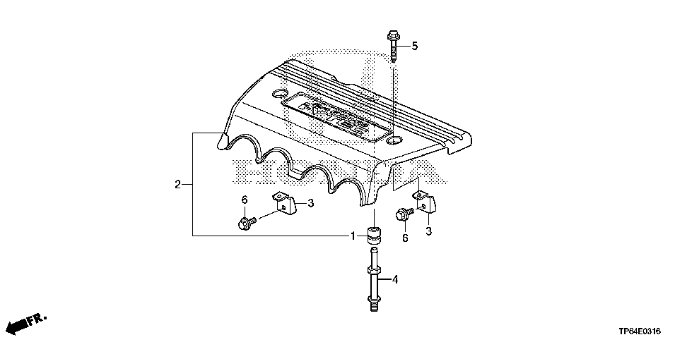 17122-R41-L51 - STAY, ENGINE COVER