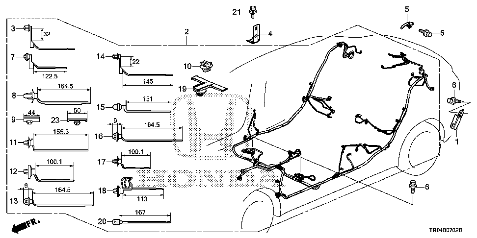 32107-TR3-A10 - WIRE HARNESS, FLOOR