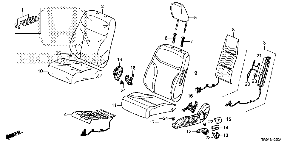81685-TR0-A01 - WIRE A, L. FR. SEAT-BACK AIRBAG