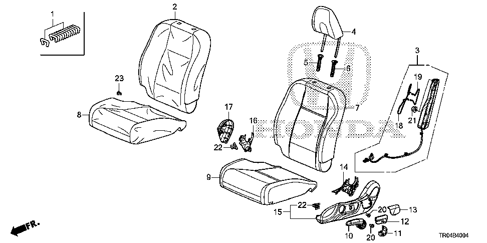 81685-TR6-A81 - WIRE A, L. FR. SEAT-BACK AIRBAG
