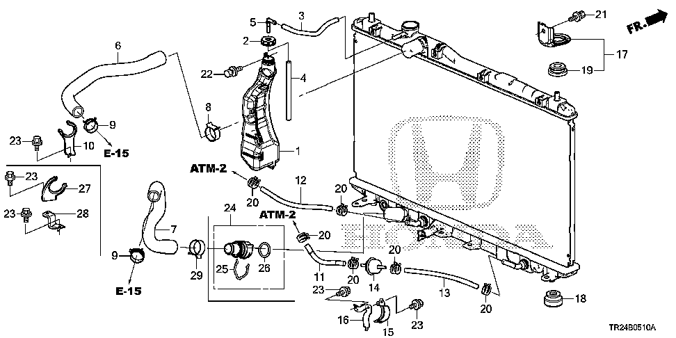 19517-R9C-000 - CLAMP, WATER HOSE