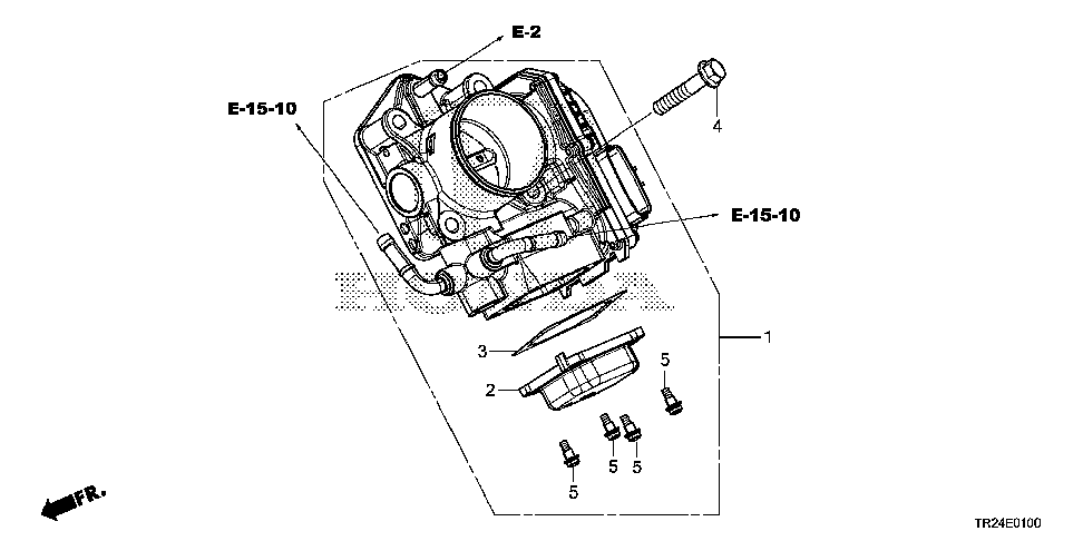 16400-RW0-A01 - THROTTLE BODY, ELECTRONIC CONTROL (GME7A)