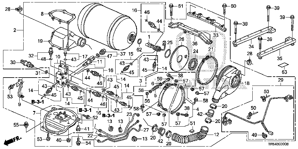 17780-TR5-A00 - PIPE B, FUEL FILLER