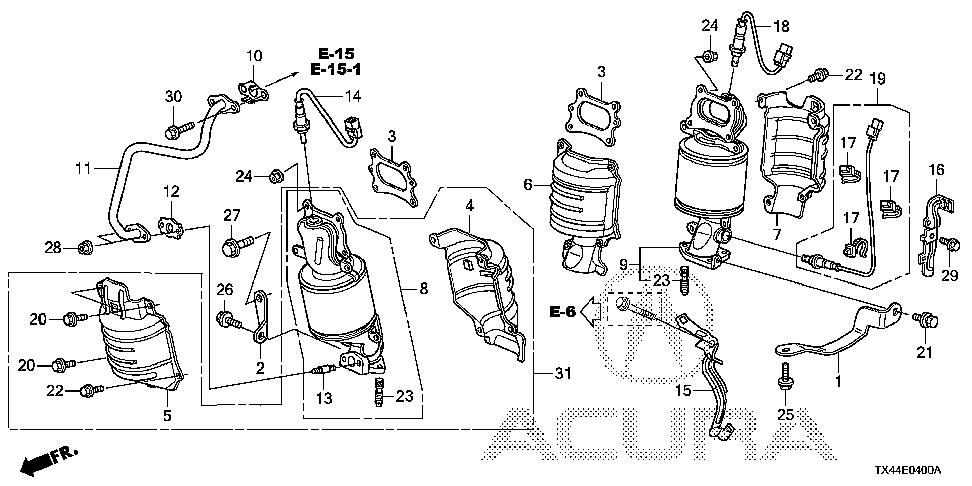 18190-R8A-A00 - CONVERTER, FR. PRIMARY