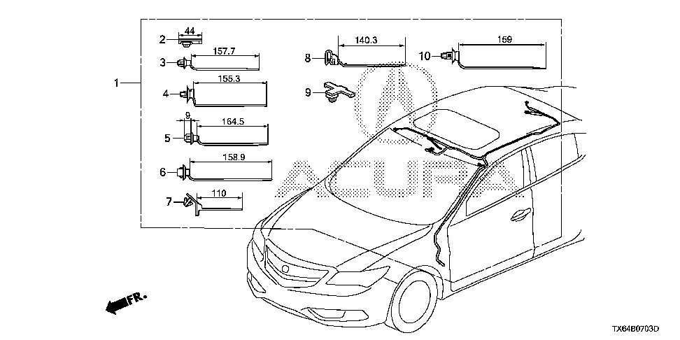 32156-TX6-A21 - WIRE, SUNROOF