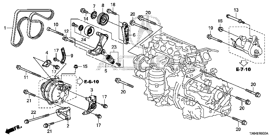 31189-R0A-005 - PULLEY SET, TENSIONER
