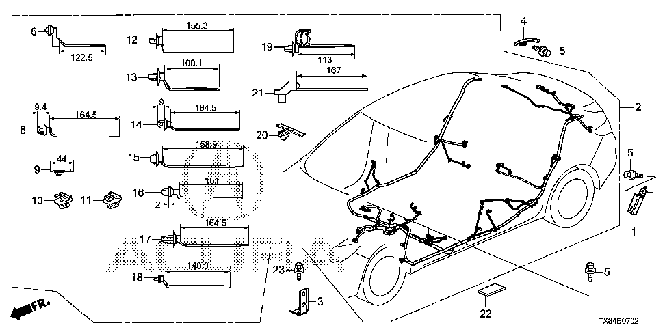 32107-TX8-A01 - WIRE HARNESS, FLOOR