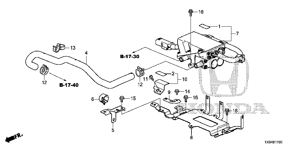 79902-TX9-A00 - STAY, ELECTRONIC HEATER CONNECTING