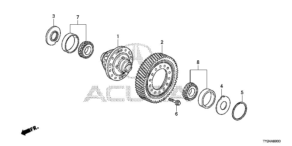 41100-R9R-003 - DIFFERENTIAL ASSY.