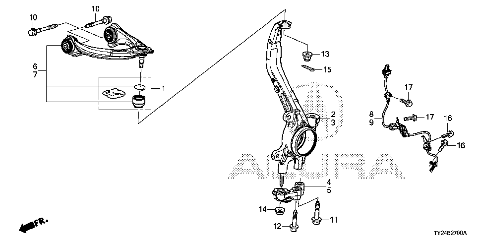 51246-TY2-A00 - HOLDER, L. FR. KNUCKLE