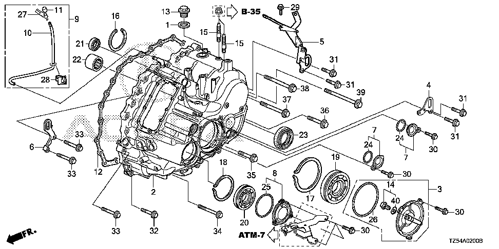 21323-5J7-A00 - TUBE, BREATHER
