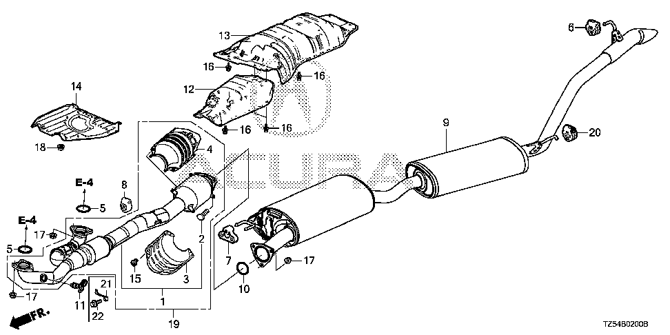 18215-TA0-A21 - RUBBER, EX. MOUNTING