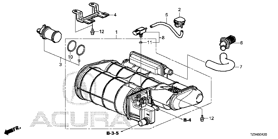 17011-TZ5-A01 - CANISTER SET