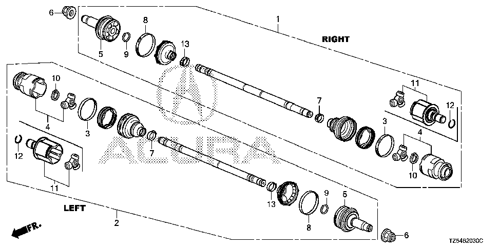 42337-TZ6-A01 - RING, STOP