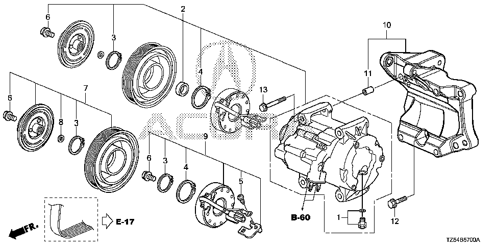 38812-5J6-A11 - C-RING, COIL