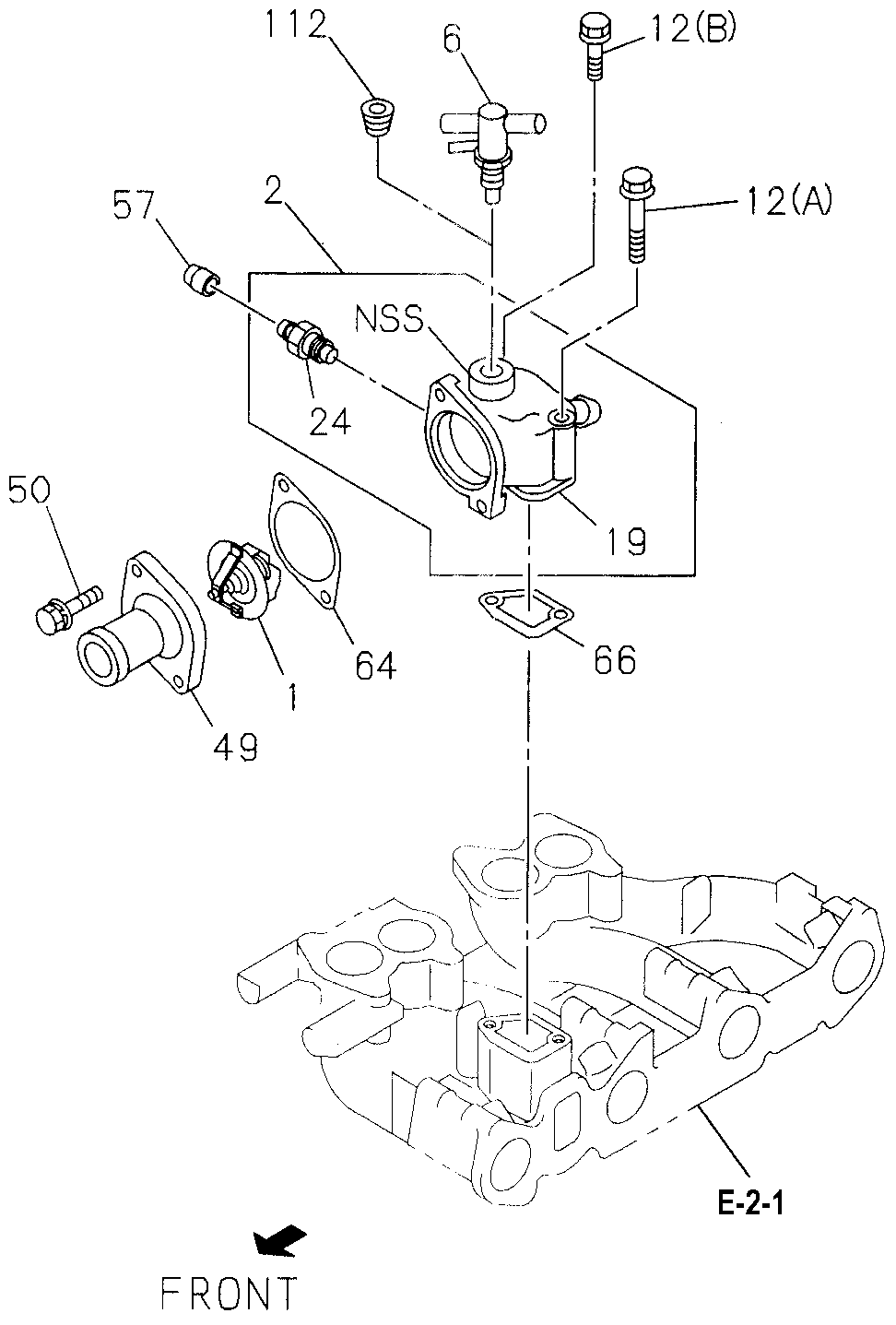 8-97108-164-0 - JOINT, WATER DUCT