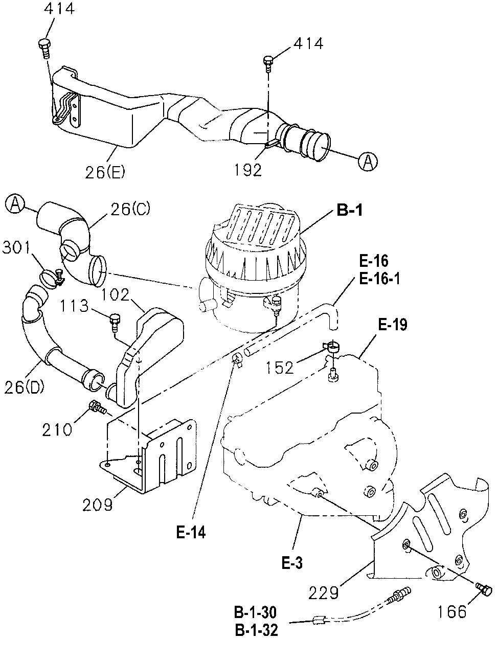 8-97065-113-3 - DUCT, AIR IN.