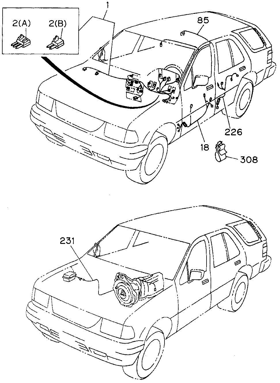 8-97139-443-1 - WIRE HARNESS, TRANSMISSION