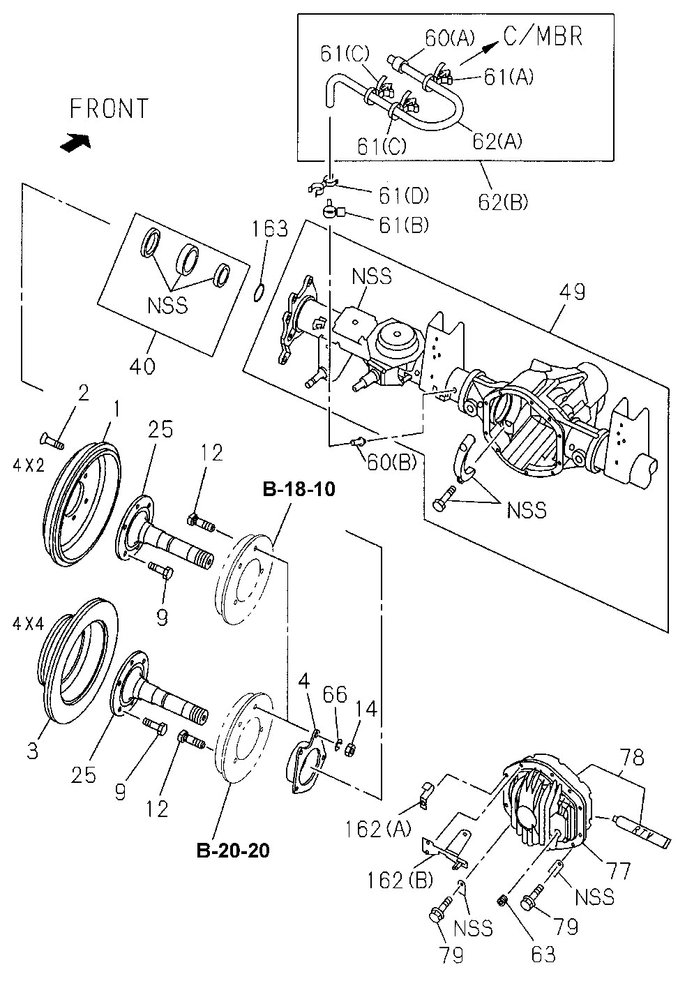 2-90265-710-0 - SHAFT, RR. AXLE
