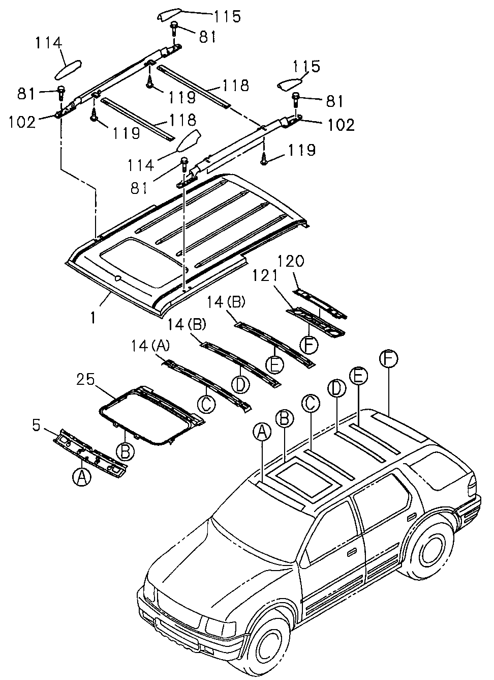 8-97124-193-4 - SUPPORT, ROOF