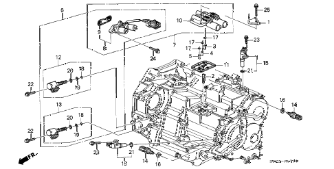 1999 TL 4 DOOR 4AT 4AT SENSOR - SOLENOID diagram