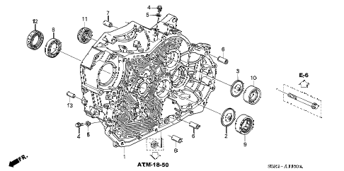 2003 TL 4 DOOR 5AT 5AT TORQUE CONVERTER HOUSING diagram