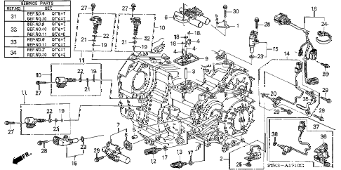 2002 TL TYPE-S 4 DOOR 5AT 5AT SENSOR - SOLENOID diagram