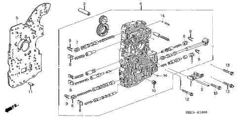 2003 TL TYPE-S 4 DOOR 5AT 5AT MAIN VALVE BODY diagram