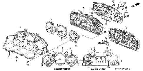 2003 TL 4 DOOR 5AT METER COMPONENTS diagram