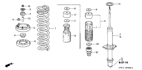 2002 TL 4 DOOR 5AT FRONT SHOCK ABSORBER diagram