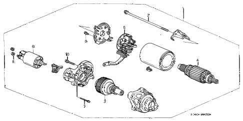 1999 TL 4 DOOR 4AT STARTER MOTOR (MITSUBA) diagram