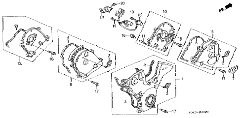 2003 TL TYPE-S 4 DOOR 5AT TIMING BELT COVER diagram