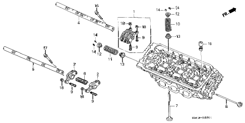 2002 TL 4 DOOR 5AT VALVE - ROCKER ARM (RR.) diagram