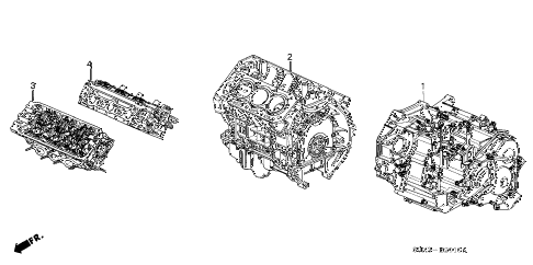 2002 TL 4 DOOR 5AT ENGINE ASSY. - TRANSMISSION ASSY. diagram