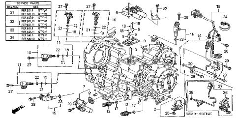 2002 CL PREM 2 DOOR 5AT SENSOR - SOLENOID diagram