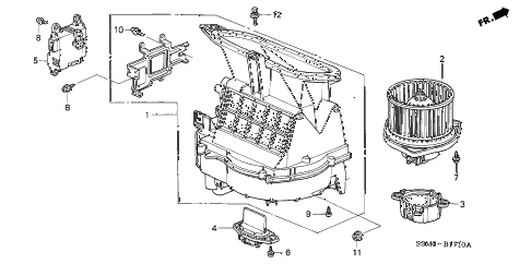 2003 CL SPORT 2 DOOR 6MT HEATER BLOWER diagram