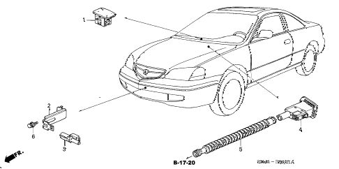 2001 CL SPORT 2 DOOR 5AT SENSOR diagram