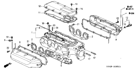 2001 CL SPORT 2 DOOR 5AT INTAKE MANIFOLD (2) diagram
