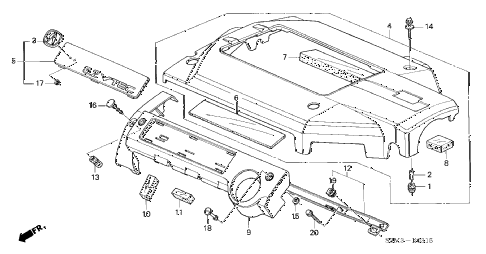 2002 CL PREM 2 DOOR 5AT INTAKE MANIFOLD COVER (1) diagram