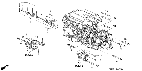 2002 CL SPORT 2 DOOR 5AT ALTERNATOR BRACKET diagram