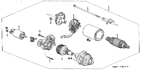 2001 CL PREM 2 DOOR 5AT STARTER MOTOR (MITSUBA) diagram
